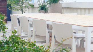 Espace à manger en terrasse
